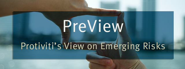 PreView - Protiviti's View on Emerging Risks