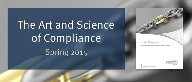The Art and Science of Compliance - Spring 2015